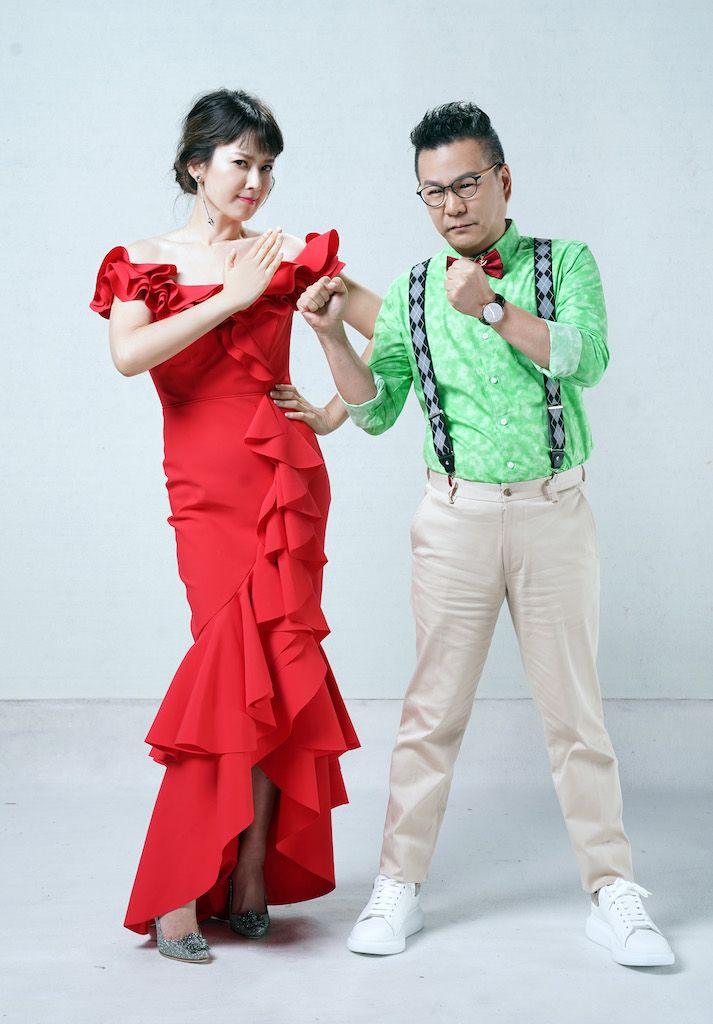 ▲沈玉琳(右)和Melody首次搭擋主持。(圖/TVBS)