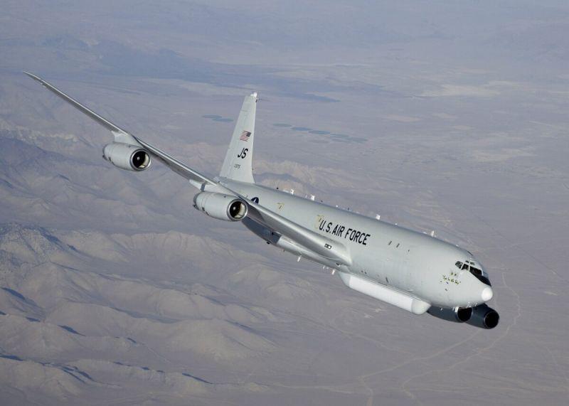 ▲美軍偵察機 E8-C。(圖/翻攝自美國國防新聞 Defense News )