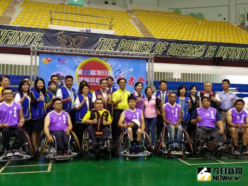 ▲今年邁入第二十屆的「旭日盃」全國輪椅籃球賽,18、19日將在彰化縣立體育館開打。(圖/記者葉靜美攝,2020.07.16)