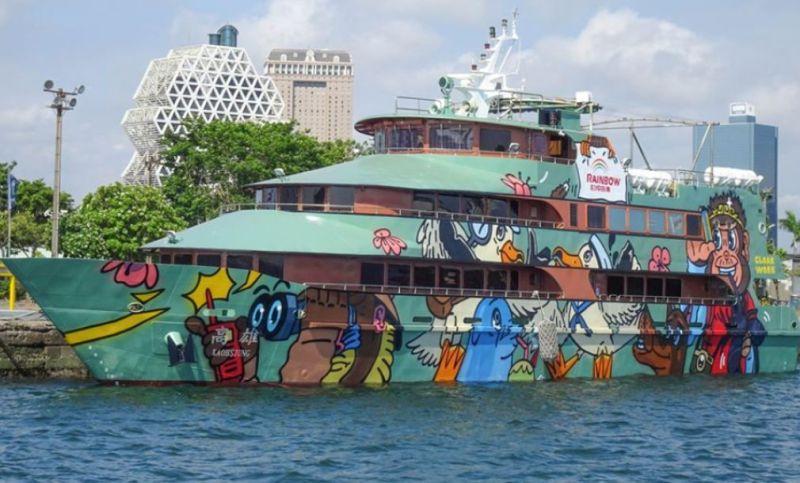 ▲高雄港香蕉碼頭至蚵仔寮漁港的藍色公路航線重新啟航。(資料照/記者黃守作攝)