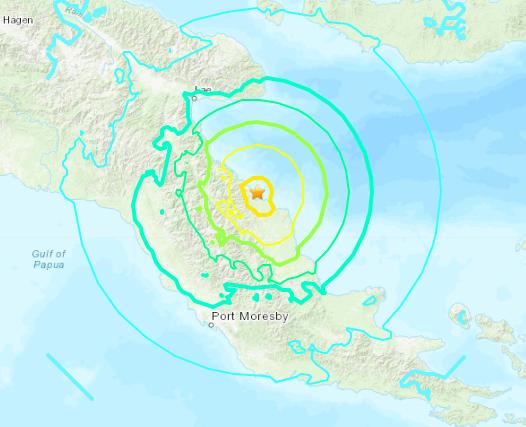 巴布紐幾內亞「規模6.9強震」 太平洋<b>海嘯</b>中心發布警報