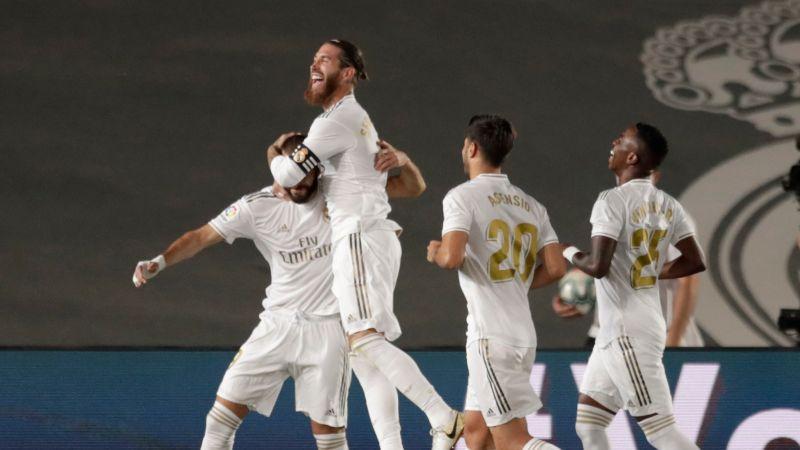 ▲法國球星本澤馬(Karim Benzema)梅開二度幫助皇家馬德里勇奪隊史西甲聯賽第34冠。(圖/美聯社/達志影像)