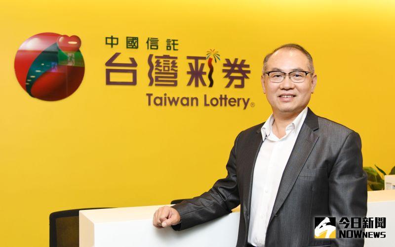 ▲台灣彩券公司總經理蔡國基。(圖/記者林調遜攝)