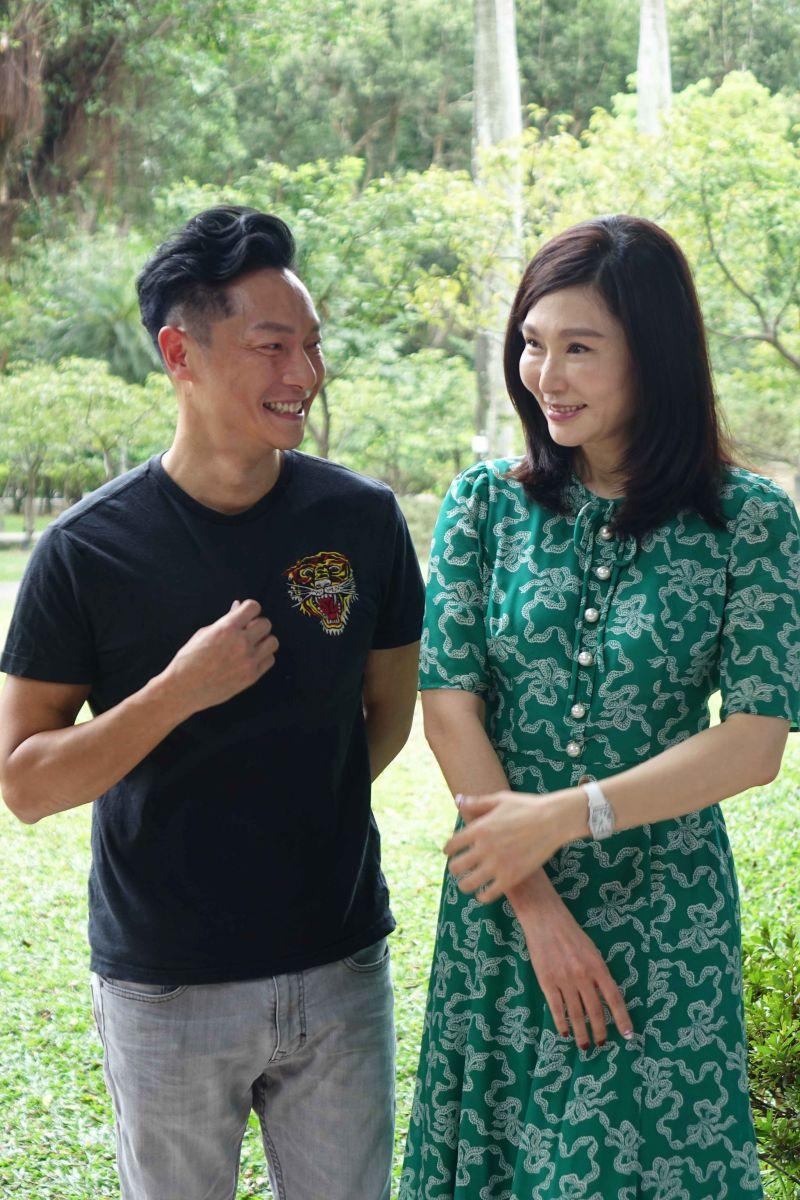 ▲張玉嬿(右)、謝祖武仍維持友好關係。(圖