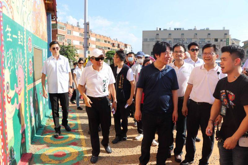 賴清德參訪彩虹眷村 鼓勵民眾出門觀光