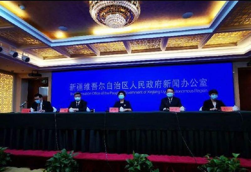 ▲新疆維吾爾自治區 7/18 宣布烏魯木齊市防疫進入「戰時狀態」。(圖/翻攝自微博)