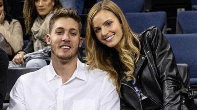 ▲Meyers Leonard和老婆Elle。(圖/翻攝自Meyers Leonard臉書)