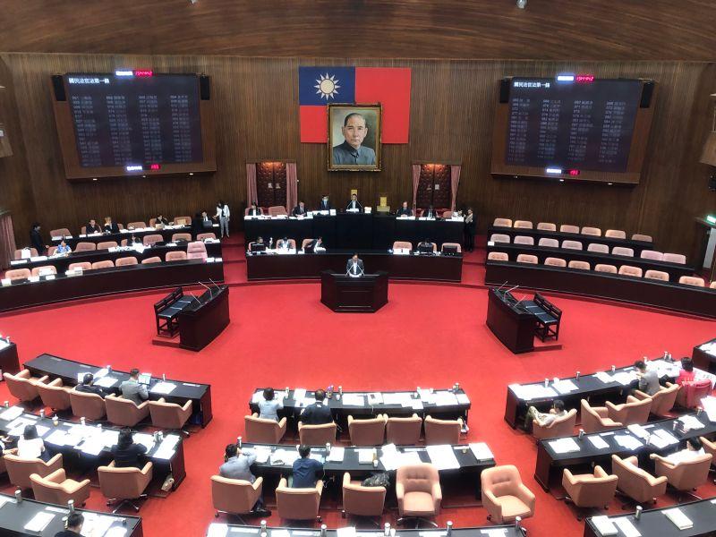 ▲立法院20日下午表決國民法官法。