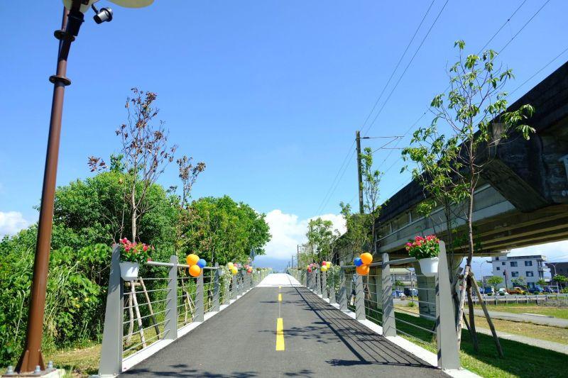 <b>自行車道</b>跨越陸橋 串聯宜蘭、羅東兩運動公園