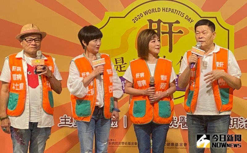 ▲許效舜(左起)、苗可麗、王彩樺、澎恰恰今(21)日一起出席活動。(圖/記者臺孝婷攝)