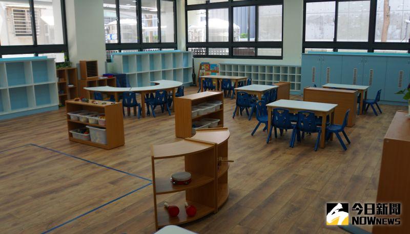 ▲國防部大直非營利幼兒園教室。(圖/記者呂炯昌攝.2020.07.21)