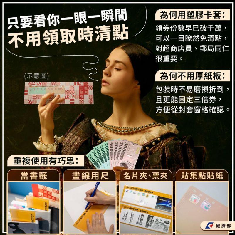 ▲經濟部解釋塑膠卡套設計主因與用途。(圖/取自經濟部)