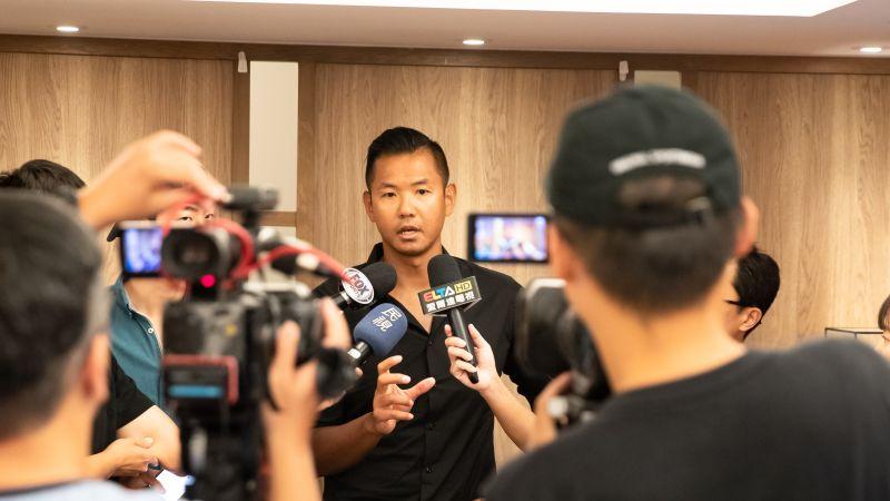 ▲新職籃聯盟執行長「黑人」陳建州今(21)日公布聯盟名稱為「P.League+」。(圖/P.League+提供)