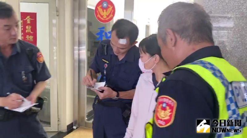▲員林警方火速找到父女檔,把女童帶回和美。(圖/記者陳雅芳翻攝,2020.07.21)