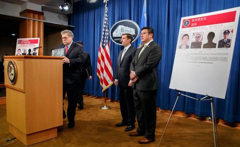 ▲美國司法部公布文件,指2名中國駭客因涉嫌竊取國安機密被起訴。(圖/美聯社/達志影像)