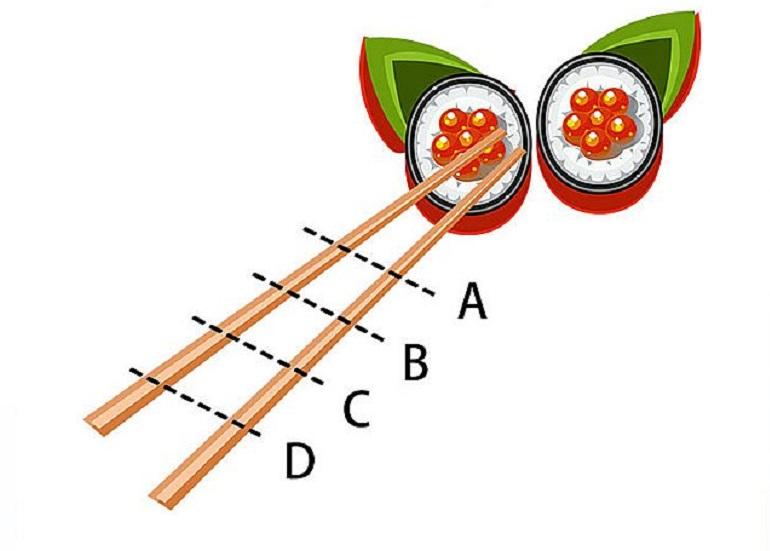 ▲筷子習慣握在哪個位置?秒解你的「潛在性格」。(圖/翻攝自美日誌)