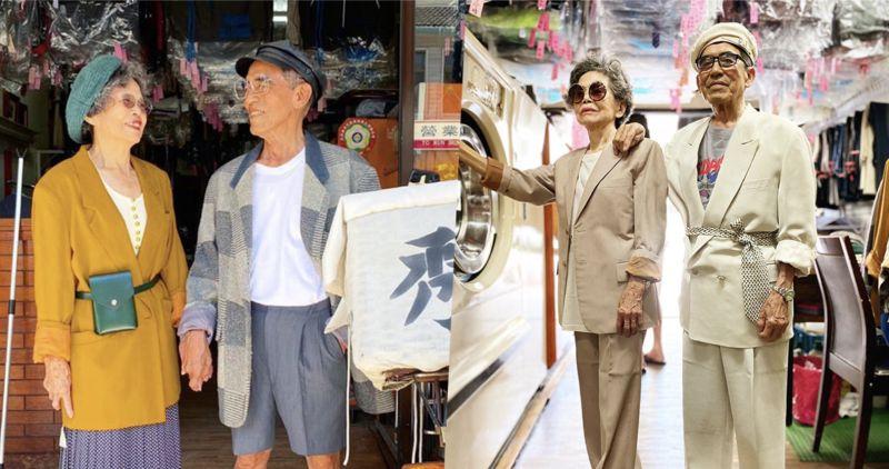 ▲高齡80多歲的網紅爺奶萬吉、秀娥在IG爆紅(圖|翻攝自IG@wantshowasyoung)