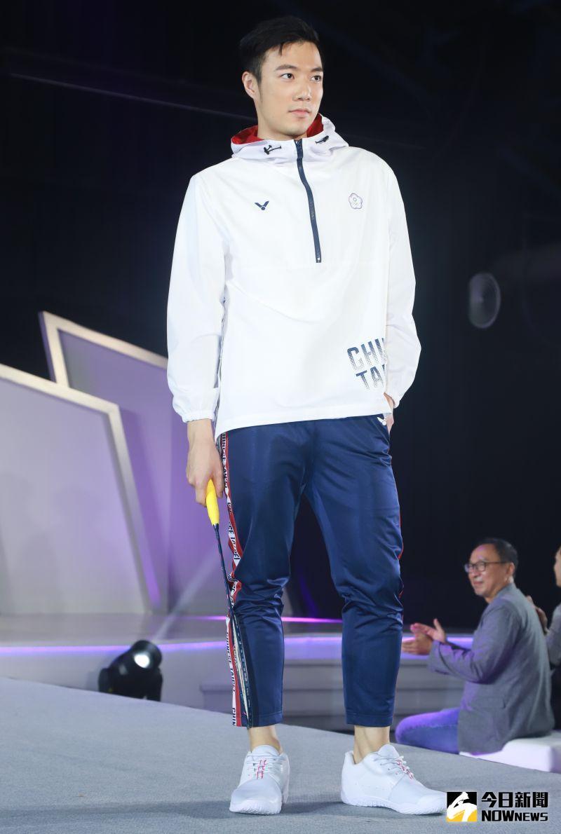 ▲2020東京奧運團服發表會,羽球代表王子維。(圖/記者葉政勳攝