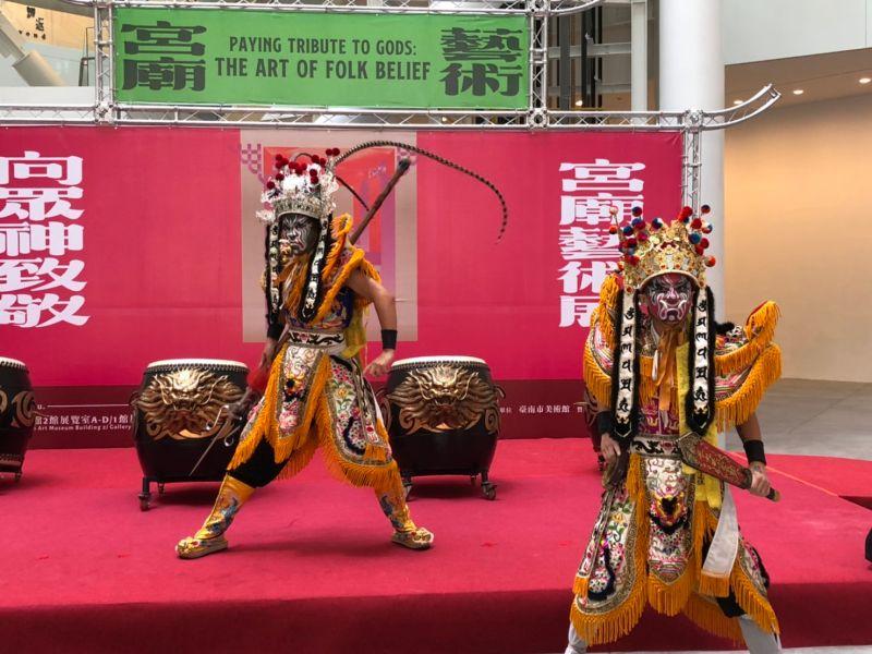 傳統即當代 <b>南美館</b>「向眾神致敬—宮廟藝術展」熱鬧展出