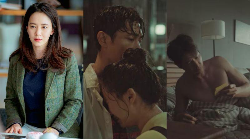 ▲宋智孝(左)劇中跟大學前輩過夜後,留字條要對方忘記一切。(圖/翻攝JTBC、Netflix)