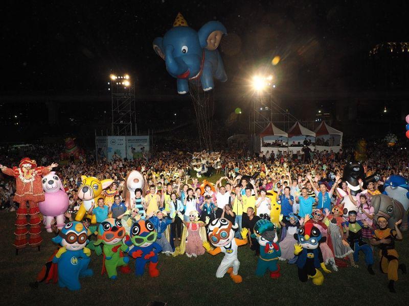 ▲「2020新北市兒童藝術節」與「熊猴森樂園堤坡滑梯」今(25)日在新北大都會公園正式開幕及啟用,將一路持續到8月16日。(圖/新北市文化局提供)