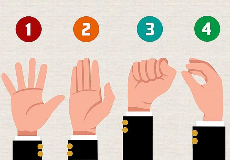 ▲你都怎麼舉手呢?秒解你的「戀愛運」與「個性」。(圖/翻攝自Look Pretty)