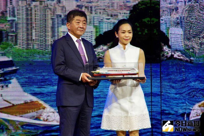 ▲陳時中表示,郵輪跳島行程給民眾一種類出國的感受,希望大家可以好好欣賞台灣美麗的海岸線。(圖/記者陳致宇攝)