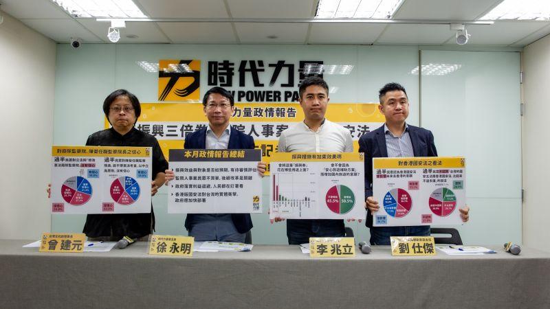 監院人事案 時力民調:過半民眾不滿意、對陳菊沒信心