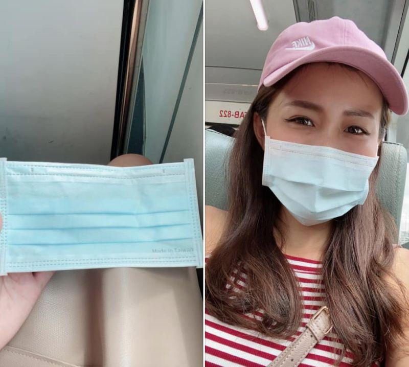 ▲女網友趕公車忘記帶口罩,司機大哥暖心送她一片。(圖/翻攝自爆怨公社臉書)