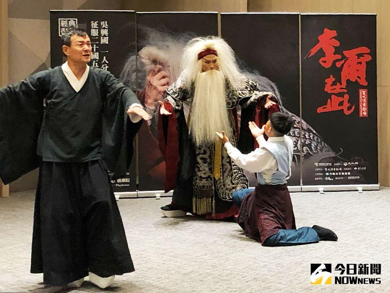 ▲ 當代傳奇劇場經典名作《李爾在此》是吳興國1人分飾10角的獨角戲作品。(圖/記者陳美嘉攝,2020.07.27)
