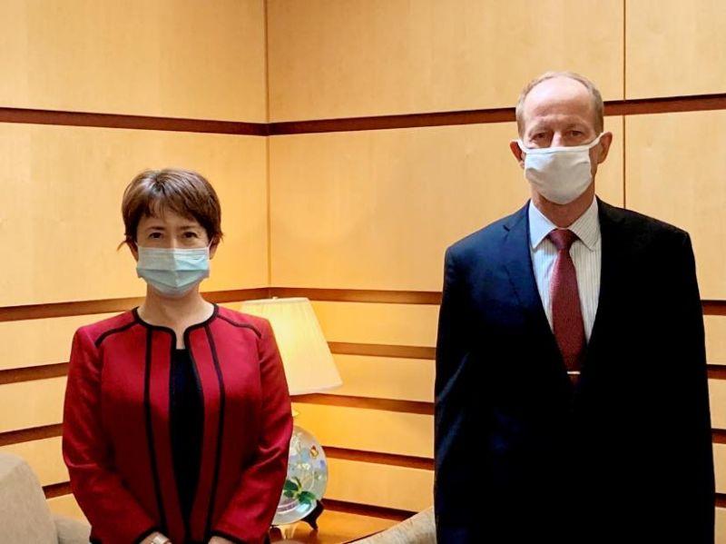駐美代表蕭美琴會晤美國務院亞太助卿。