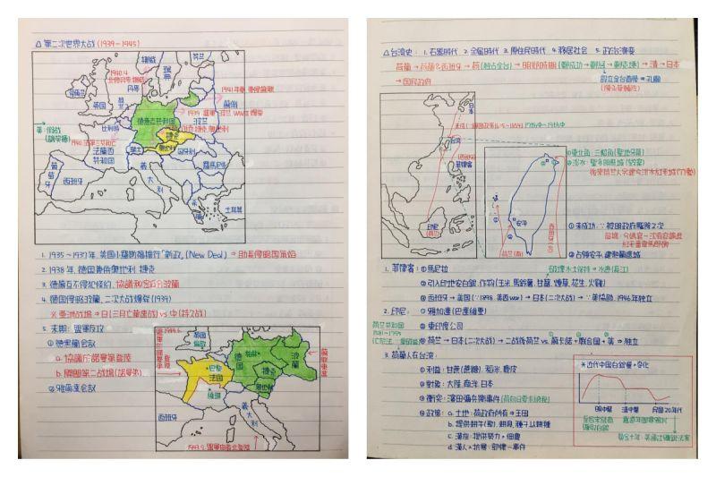 ▲網友秀出自己手寫的精美筆記,讓大家齊讚嘆。(圖/翻攝自爆廢公社臉書)