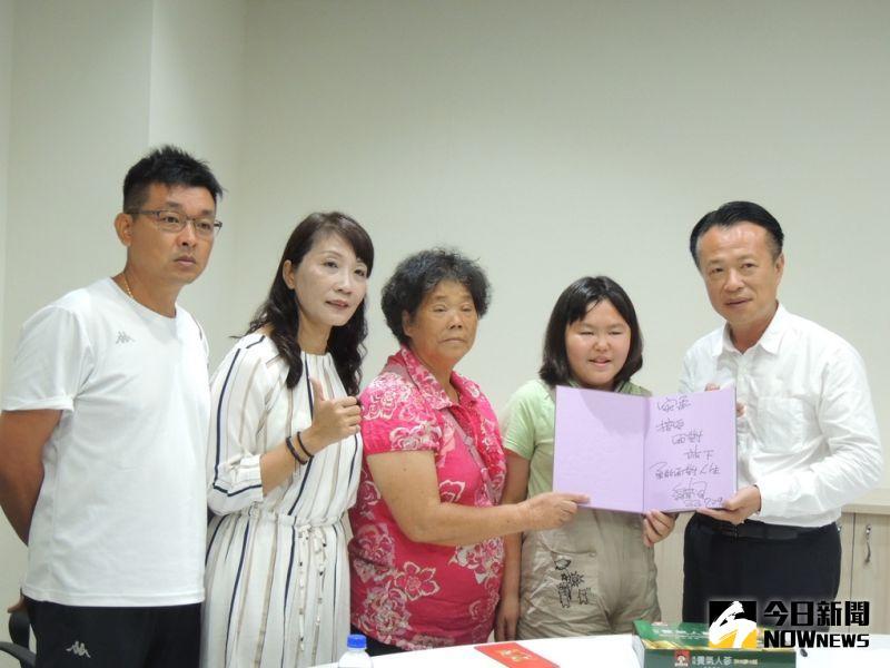 翁章梁勉<b>總統教育獎</b>學生 以「接受、面對、放下」度逆境