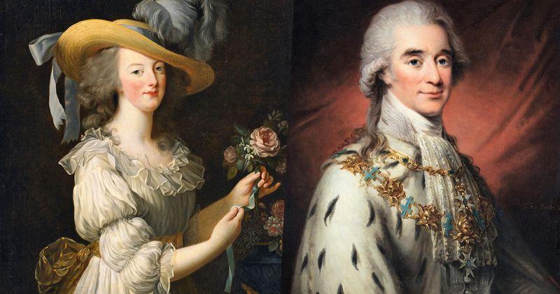 Axel von Fersen伯爵(右)與瑪麗皇后(左)