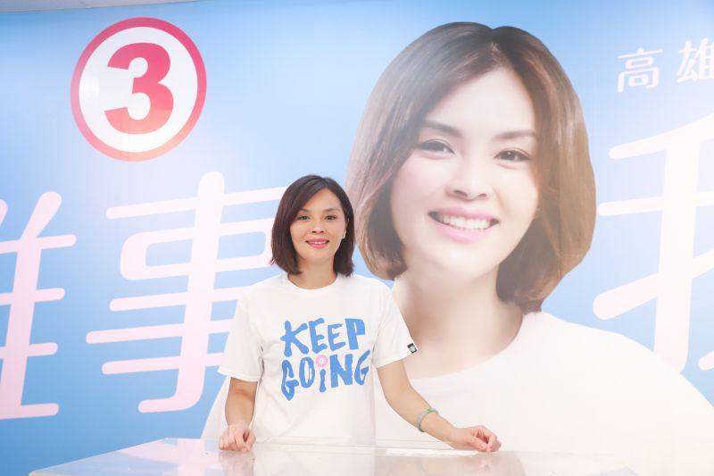 國民黨高雄市長候選人李眉蓁接受《今日新聞 NOWnews》專訪,談到前高雄市長韓國瑜。(圖/記者葉政勳攝)