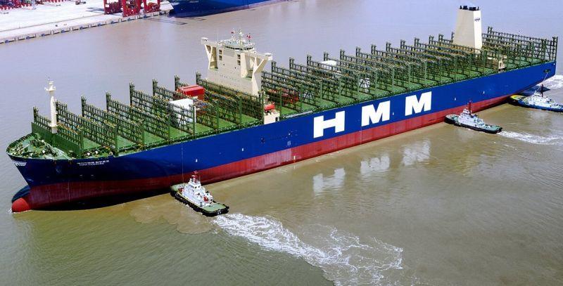 ▲巴拿馬籍韓遠漢堡號貨櫃輪首航高雄港。(圖/台灣韓新遠洋船務提供)