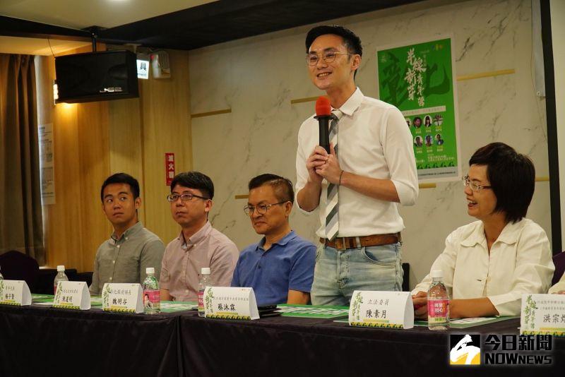 ▲青年營還邀請民進黨青年部主任蔡沐霖到場現身說法與分享經驗。(圖/記者陳雅芳攝,2020.07.30)