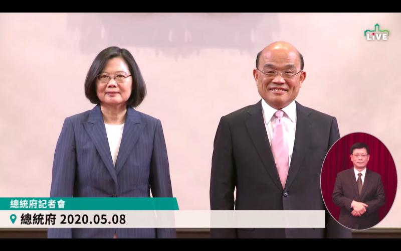 國民黨文傳會主委王育敏30日表示,蔡英文總統和行政院長蘇貞昌為了在公視安插自己的人馬展開「內鬥」。(資料照/翻攝總統府臉書)