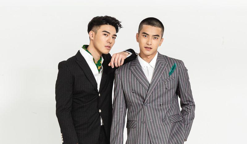 ▲陳昊森(左)、曾敬驊以歷屆最年輕之姿「雙蛋黃」擔任酷兒影展大使。(圖/東昊)