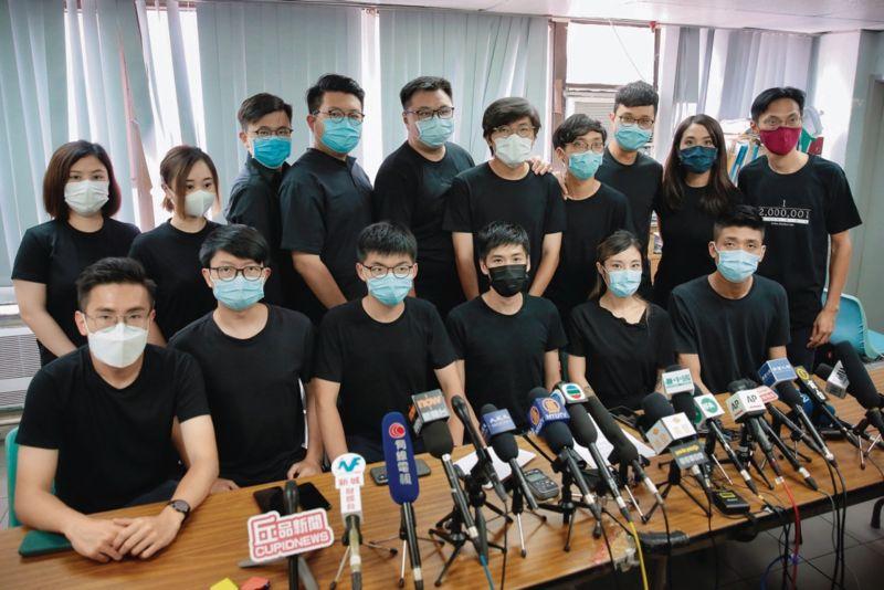 ▲香港立法會選舉民主派12位提名人被DQ。(圖/翻攝自《香港 01 》)