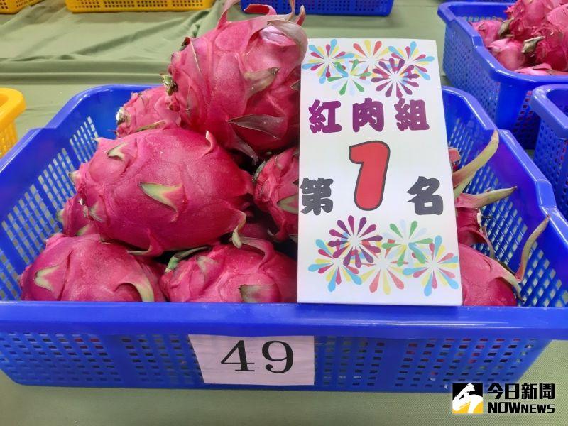 ▲109年度火龍果評鑑競賽紅肉組:第一名:謝富坤。(圖/記者陳雅芳攝,2020.07.30)