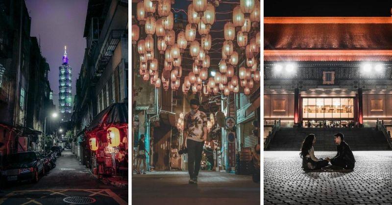 台裔加拿大攝影師David Peng作品,左至右分別攝於台北、台南神農街、中正紀念堂