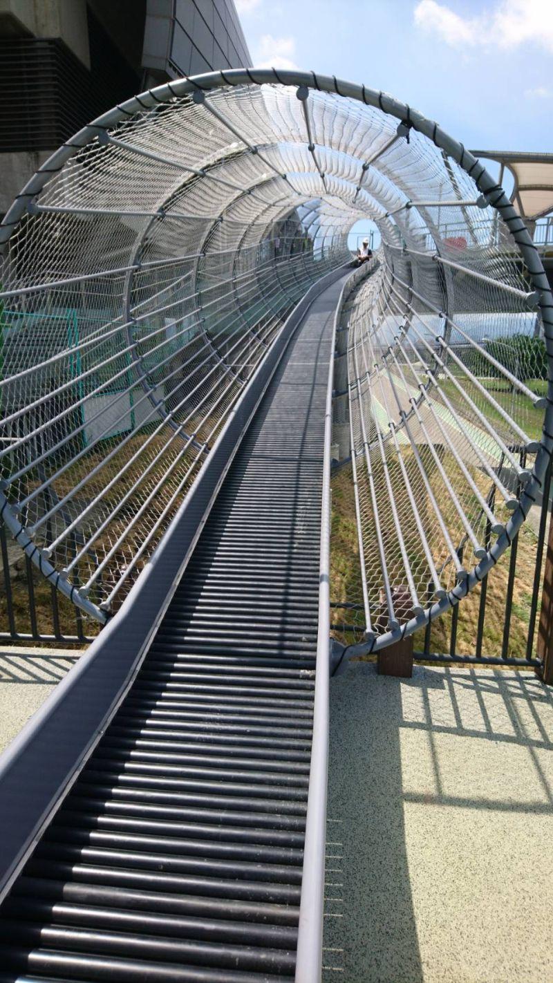 ▲熊猴森樂園超長38公尺滾輪滑梯。(圖/新北市文化局提供)