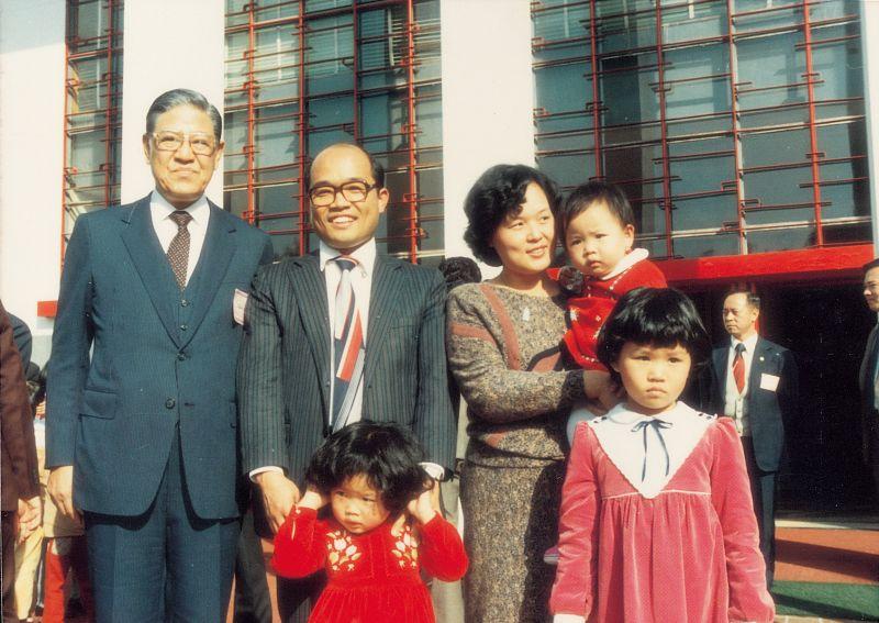 李登輝和蘇貞昌全家福合照