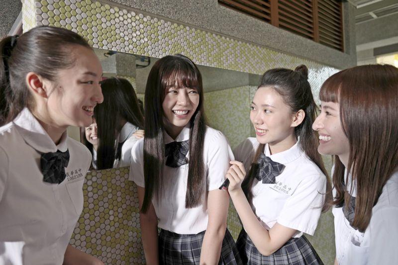 ▲《哈囉少女》女星們公認女廁是學校的八卦中心。(圖/双喜)