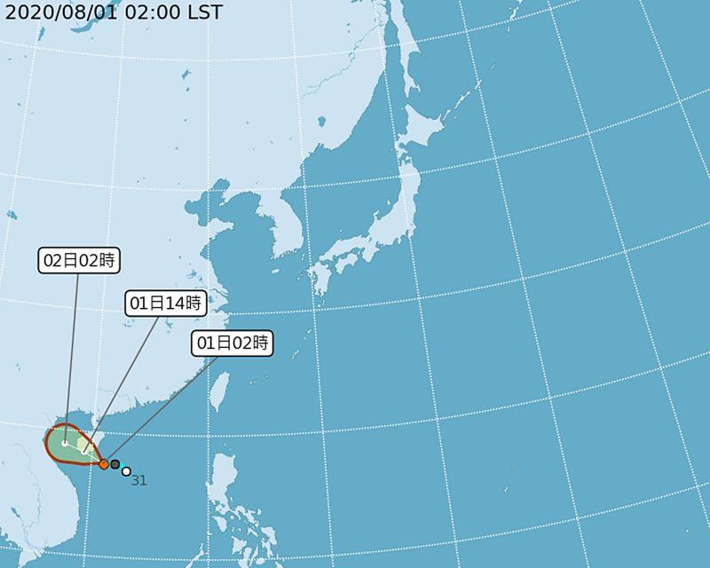 ▲颱風「辛樂克」最快今生成,會直接影響台灣,但仍需防範2到4日下周日至下周二期間,有局部短時大雨或豪雨發生機率。(圖/氣象局)