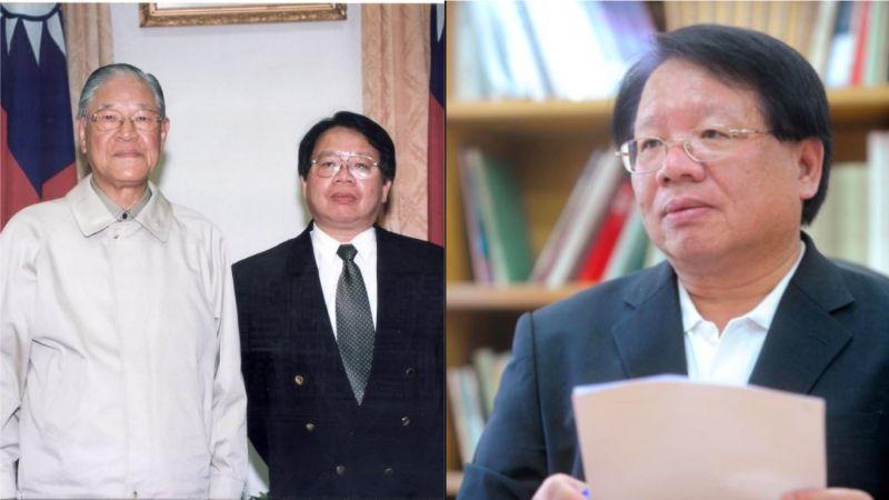 ▲2000年李總統特別在卸任前,和張榮豐在他辦公室合影。(合成圖/張榮豐提供)