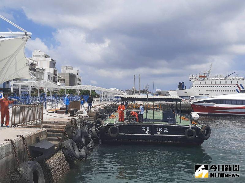 馬公港浮動平台神救援 探索夢號郵輪接駁碼頭有著落