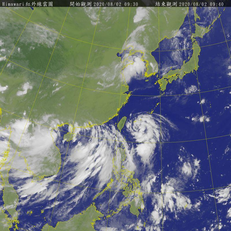 ▲輕颱「哈格比」今天就會通過台灣東部海面,明天將掠過東北部海面,吳德榮認為,其對台各地的威脅程度,絕對不可小覷。(圖/翻攝自中央氣象局)