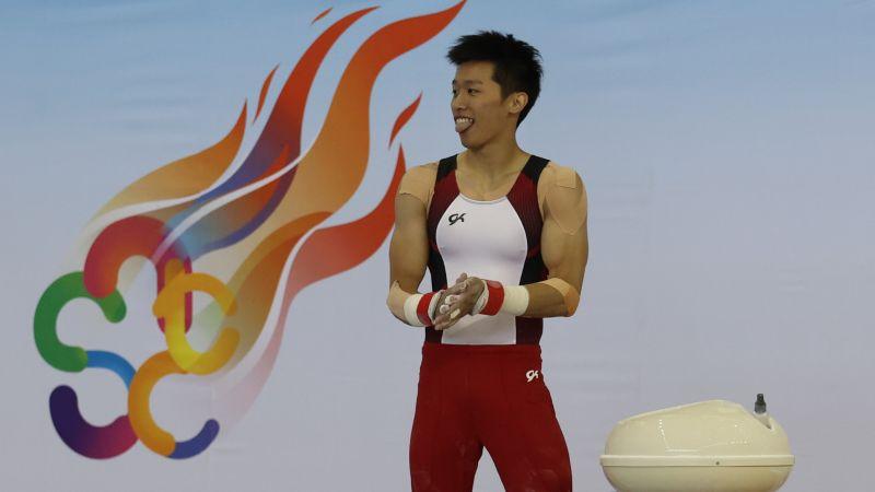 體操/賽程緊湊 <b>李智凱</b>鞍馬二度「落馬」檢討自己